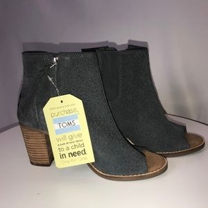 NWT Toms Majorca Peep Toe Booties size 7
